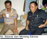 DL SITORUS DAN MONANG SITORUS (FOTO JARAR SIAHAAN/BATAKNEWS)